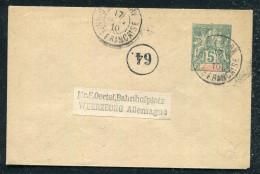 GUINÉE FRANCAISE -ENV. EP 5 C. VERT, 116 X 76 , OBL. CONAKRY LE 17/12/1910 , POUR L'ALLEMAGNE - TB