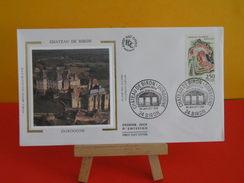 FDC - Château De Biron ( Dordogne ) - 24 Biron - 4.7.1992 - 1er Jour,Coté 2,70 € - FDC