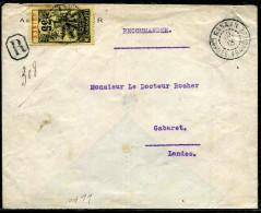 GUINÉE FRANCAISE - N°41 / LR DE KANKAN LE 21/10/1913 , POUR LES LANDES - TB