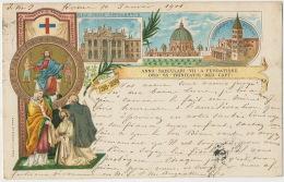 Litho Pionniere Anno Saeculari VII A Fundatione Ord . SS . Trinitatis Red Capt 1898 Litho Gavuzzo Roma - Vatican
