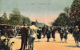 Paris - Avenue Foch (16 ème Arrondisement) - Grosse Animation - Carte A.L. Colorisée N° 71 - Distretto: 16