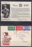 = Jubilé Jamboré 1957 Du 1 Au 12.8.57 Sutton Goldfield Enveloppe 1er Jour 3 Timbres Et Carte Avec Lord Baden Powell - Covers & Documents