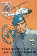"8226-""ITALCON BEIRUT-UFFICIO POSTALE MILITARE"" SU CARTOLINA FORZE ITALIANE DI PACE IN LIBANO-PARACADUTISTI - Bureaux Etrangers"