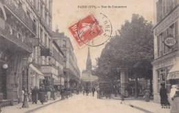 PARIS XV°  Rue Du COMMERCE Près Du SQUARE Animation Les  BAINS DOUCHES  CAFE CHARCUTERIE  Timbre 1915 - Arrondissement: 15