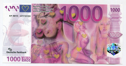 "Billet De Banque érotique ""1000 Euro/eros"" Erotic Bank Note - Deutsche Parkbank - [17] Vals & Specimens"