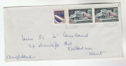 1966 FRANCE COVER Stamps YOUTH CULTURE, ARMS To GB - Covers & Documents