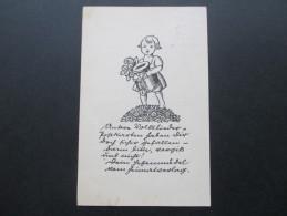Deutsches Reich Nr. 410 EF 1931 Postkarte Unsere Volkslieder. Deutsche Volkslieder. Werbestempel Benutzt Die Kraftpost - Briefe U. Dokumente