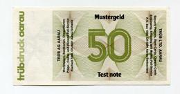 Billet De Banque D'essai De 50 Marks Pour Distributeurs DAB - Test Note From Tge Cash Dispenser - [17] Fakes & Specimens