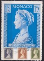 = Carte Postale 1er Jour Monaco.A 11.5.57 N°478 479 480 Naissance Princesse Caroline Effigie Princesse Grace - Neujahr