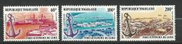 """Togo Aerien YT 342 à 344 (PA 342 à 344) """" Port De Lomé """" 1978 Neuf ** - Togo (1960-...)"""