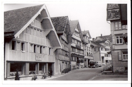 SCHWELLBRUNN: Dorfpassage Mit Oldtimern, Echt-Foto-AK ~1940 - AR Appenzell Rhodes-Extérieures