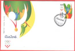 """Croatia 2016 FDC """" Summer Olympic Games Rio - 2016"""" Quality:100% - Sommer 2016: Rio De Janeiro"""