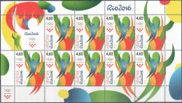 """Croatia 2016 """"Summer Olympic Games Rio - 2016"""" MS Quality:100% - Summer 2016: Rio De Janeiro"""