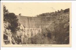 Carte Des Environs D' Aix En Provence Barrage Zola ( Recto Verso ) - Aix En Provence