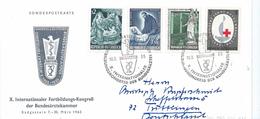 AUTRICHE Carte Souvenir Xème Congrès International De L'Ordre Des Médecins 1965 Avec Obl Illustrée - Austria