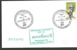 RIF36---  ITALIA REPUBBLICA,  ANNULLI FILATELICI,   GENOVA   ESP. FILATELICA TEMATICA,  1976, - Orchideeën