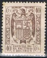 Sello Especial Facturas Y Recibos, Fiscal, Estado Español, 40 Cts * - Fiscales