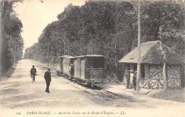 62-LE TOUQUET PARIS-PLAGE- ARRÊT DU TRAIN SUR LA ROUTE D´ETAPLES - Le Touquet