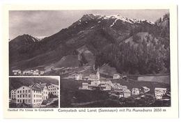 COMPATSCH Und LORET. 2-Bild-AK Mit Gasthof Piz Ureza ~1910 - GR Grisons