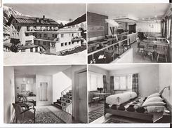 SAMNAUN: 4-Bild-AK Hotel Post ~1970 - GR Grisons