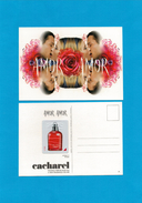 Cartes Parfumées Carte CACHAREL AMOR AMOR RECTO VERSO LIQUATOUCH - Perfume Cards