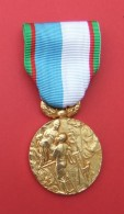 Médaille Avec Ruban Sur L'action Des Sapeurs Pompiers - Bombero