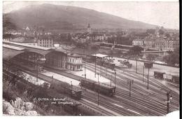OLTEN: Bahnhof Mit Zügen, Echt-Foto-AK 1914 - SO Soleure