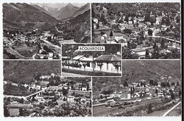 ACQUAROSSA: 5-Bild-AK Mit Bahnstation Und Zug ~1940 - TI Tessin