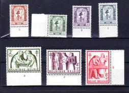 1956 Antituberculose, Radiographie   Infirmières, 998 / 1004**, Cote 34 €,  Numero De Planche - Belgium