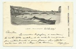 LIEGI PONT LEOPOLD 1899 VIAGGIATA FP - Liege