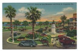 PONCE DE LEON MONUMENT AND CIRCLE, SAINT AUGUSTINE - Floride, Etats Unis - St Augustine