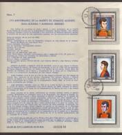 Mexico, Philatelic Sheet # 7, 175th Anniversary Of The Death Of Ignacio Allende, Juan Aldama And Mariano Jimenez, 1986 - Mexico