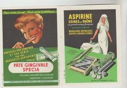 DEPLIANT PUBLICITAIRE DOUBLE FEUILLE DE TEMPERATURE - Aspirine Usines Du Rhone  Ety Pâte Gingivale SPECIA - Advertising