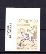500° De La Liaison Postale Innsbruck-Malines, 2350** Non Dentelé De Belgique En 1990 - Emissions Communes