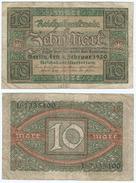 Alemania - Germany 10 Mark 1920 Pick 67.a Ref 49-2 - [ 2] 1871-1918 : Duitse Rijk