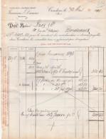 Facture 12/3/1894 JANNEAU & DUMAS Armagnac Ténarèze CONCOM Gers - France