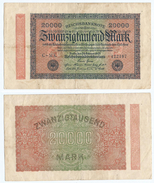 Alemania - Germany 20,000 Mark 1923 Pick 85.b Ref 69-7 - [ 2] 1871-1918 : Duitse Rijk