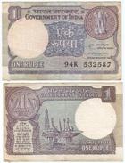 India 1 Rupee 1981, Firma 42 Pick 78.b Ref 913 - India