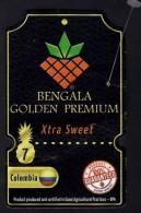 # PINEAPPLE BENGALA Size 7 GOLDEN PREMIUM Fruit Tag Balise Etiqueta Anhanger Ananas Pina Colombia - Fruits & Vegetables
