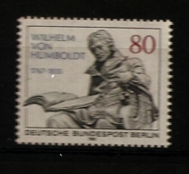 Allemagne Berlin 1985 N° 694 ** Wilhelm Von Humboldt, Politique, Homme D'état, Philosophe Université Education Linguiste - [5] Berlin