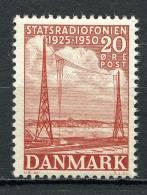 Dänemark - Denmark 1950   Mi. 321 ** MNH   Staatsrundfunk - Neufs