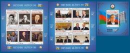 Azerbaïjan 2013 Mih. 990/1002 (Bl.127/29) Politician Heydar Aliyev. Putin. Cinton. Helmut Kohl. Jacques Chirac MNH ** - Aserbaidschan