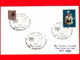 ITALIA - 1979 - Busta Viaggiata - Torino - UNICEF Piemonte - Chiusura Anno Del Bambino - Annullo 24-11-79 - 6. 1946-.. Republik