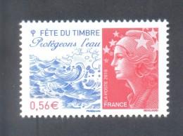 Marianne De Beaujard  -  Adhésif  - V F 0.56 € -Protégeons L'eau - 1 Timbre - 2008-13 Marianne De Beaujard