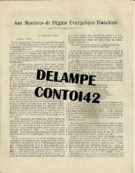 30 NIMES PASTEUR KRUGER RESUME DE PREDICATION 1932 EGLISE EVANGELIQUE HINSCHISTE RELIGION TEMPLE GARD - Religion & Esotérisme