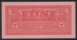 Germany P M33 - 5 Reichspfennig 1942 - UNC - [10] Military Banknotes Issues