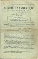 JOURNAL LE CHRETIEN EVANGELIQUE 1939 RELIGION PASTEUR CRUVELLIER VAUVERT GARD - Religion & Esotérisme