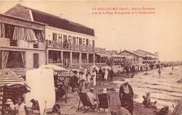LE GRAU DU ROI STATION BALNEAIRE VUE DE LA PLAGE RIVE GAUCHE ET LA RESTAURATION - Le Grau-du-Roi