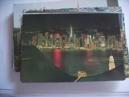 Hongkong Central District  By Night - Azerbaïjan