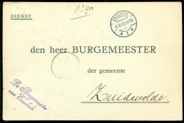 Nederland 1913 Dienstbericht Van Enschede Naar Zuidwolde - Poststempels/ Marcofilie
